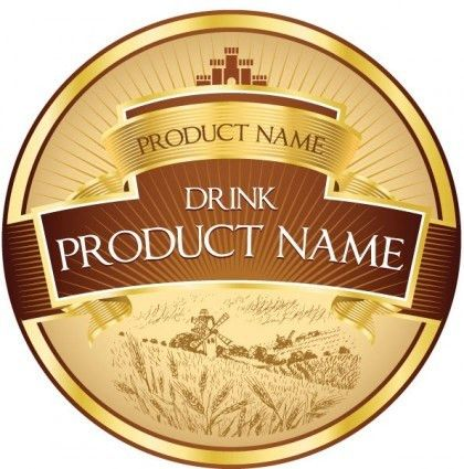 Product label design 03 vector | free vectors | UI Download