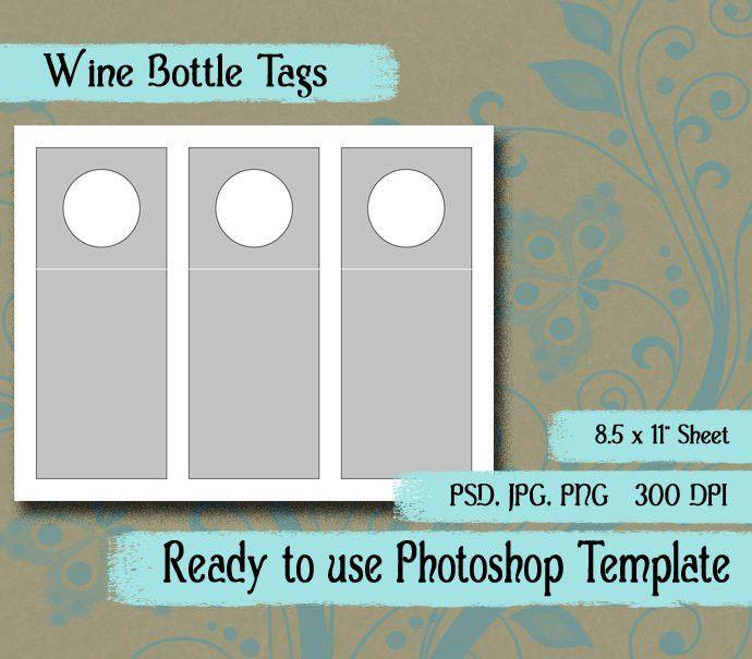 "Scrapbook Digital Collage Photoshop Template, 3"" x 7 1/2"" Wine ..."