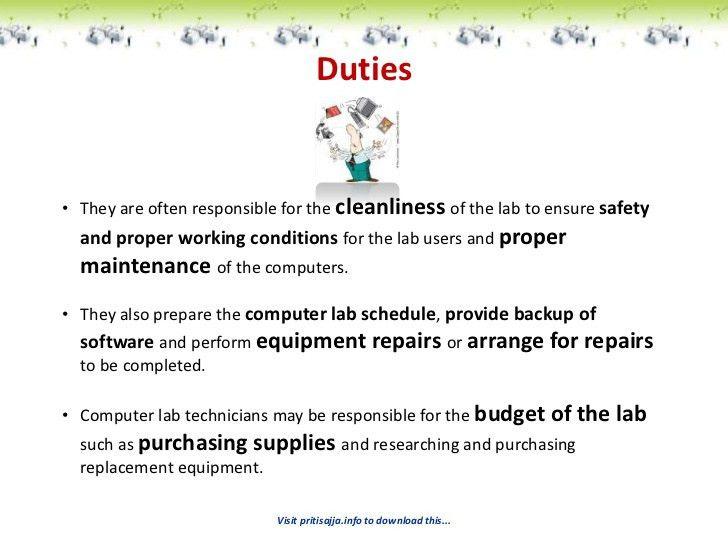 pharmacy technician job description word format free download. lab ...