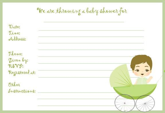 Blank Baby Shower Invitations Templates | THERUNTIME.COM