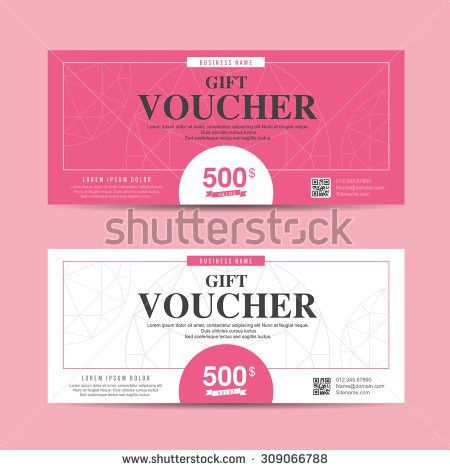 Vector illustration,Gift voucher template with colorful pattern ...