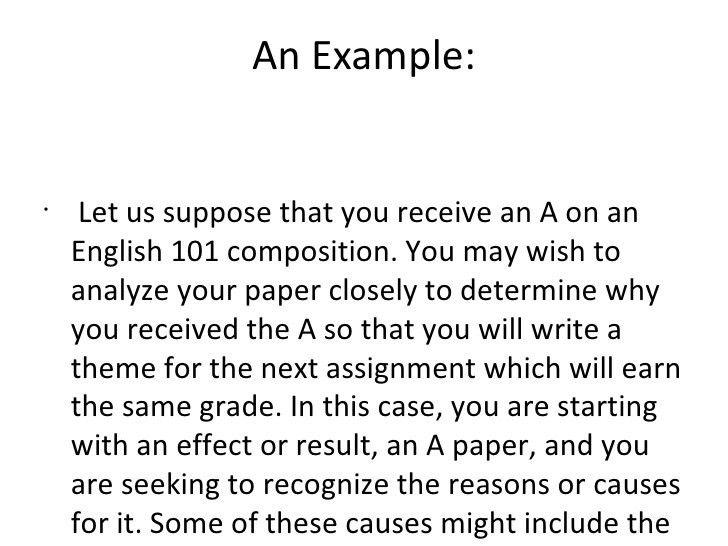 The causal analysis essay