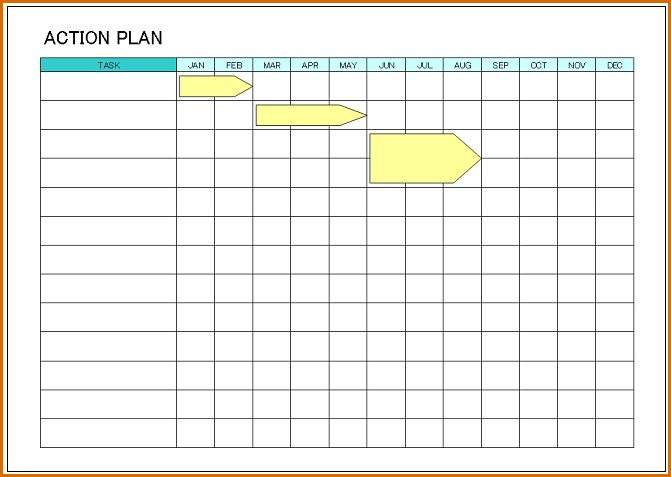 8+ action plan template free | Authorizationletters.org