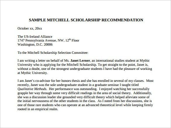Letter of Recommendation for student - 35+ Download Free Documents ...