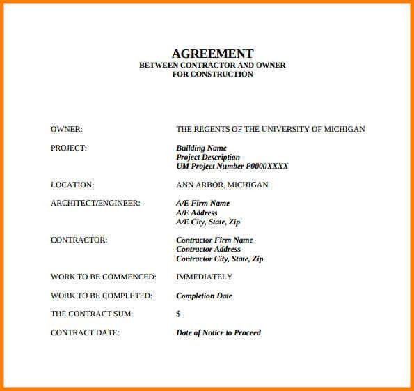 Simple Contract Agreement. Simple Contract Template Pdf Free ...