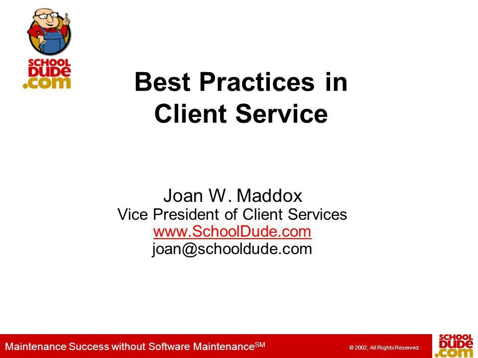 Best Practices in Client Service - ppt video online download