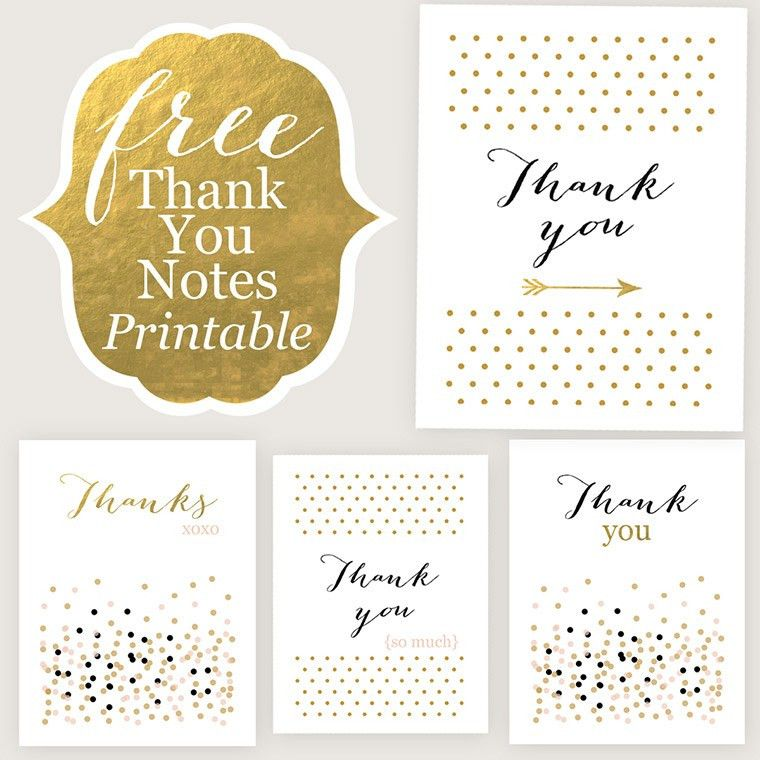 rainbow thank you cards - download a free printable | Gifts and ...