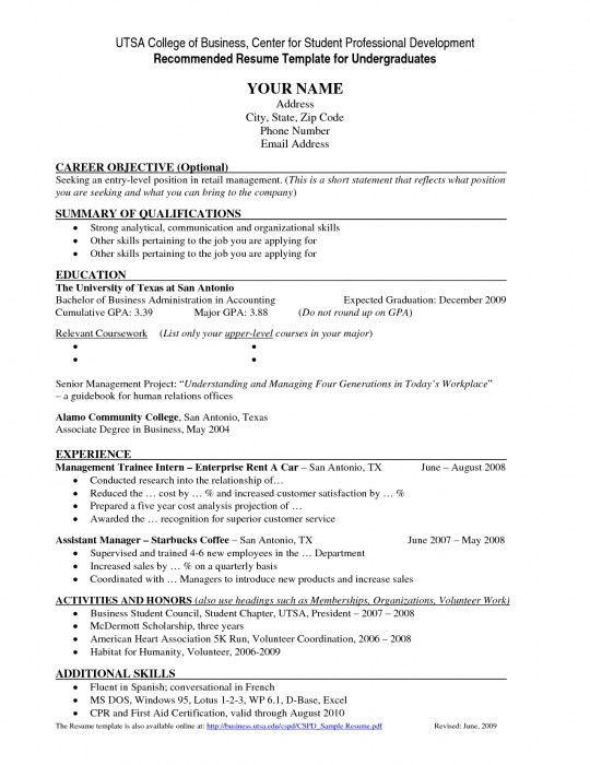 Resume Template For High School Students. Resume Sample For High ...