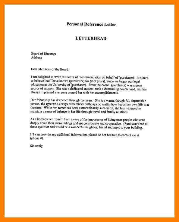 4+ employee reference template | protect letters