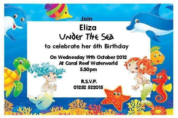 Little Mermaid Invite | futureclim.info