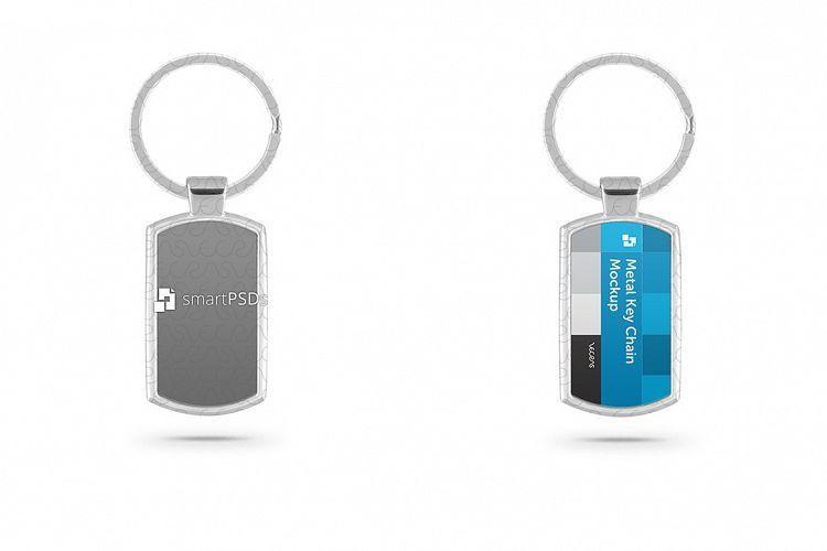 Metal Key Chain Mockup for Sublimation | Design Bundles