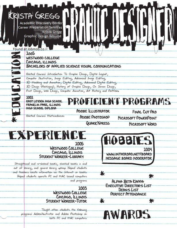 graphic design resume example graphic design resume pdf graphic ...
