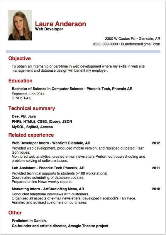 Internship Report Sample. Sample Resume For Internship Writing A ...