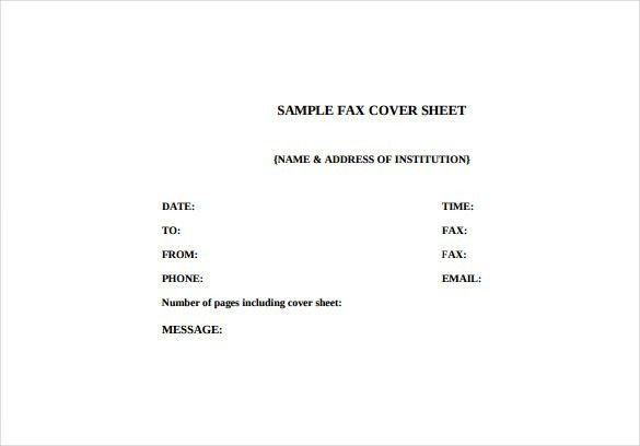Fax Cover Letter Template – 9+ Free Word, PDF Documents Download ...