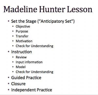Sample madeline hunter lesson plan 10 documents in pdf word