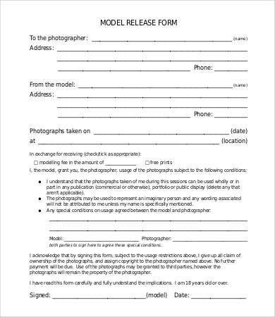 Release Form Template - 10+ Free Sample, Example, Format   Free ...