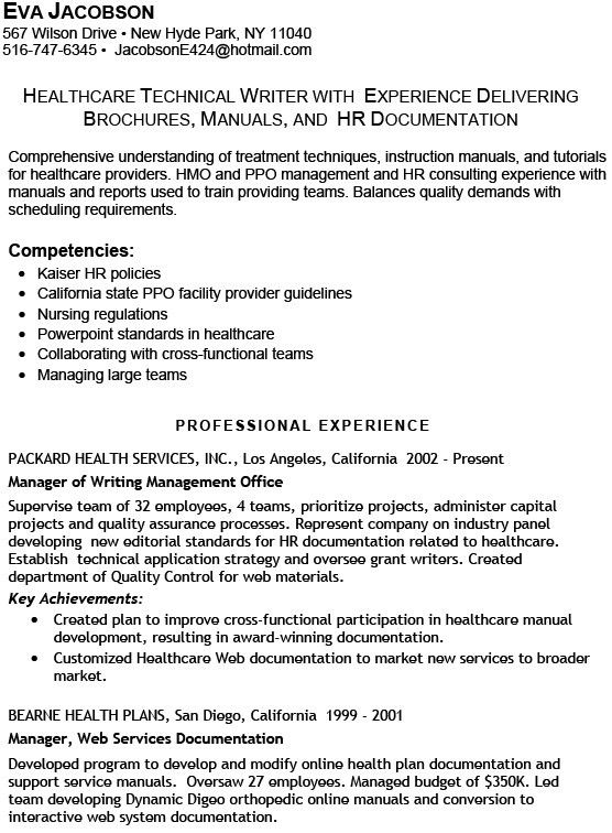 Writers Resume Example. It Technical Resume Template Technical ...