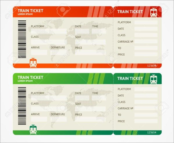 6+ Travel Ticket Templates - Free PSD, AI, Vector EPS Format ...