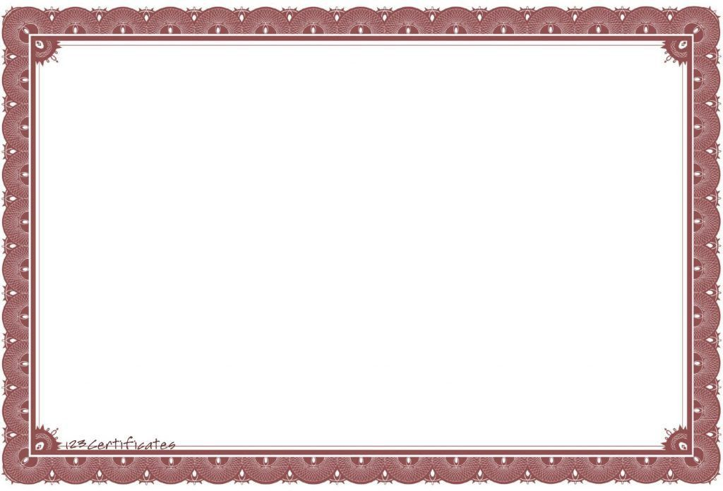 10 Best Images Of Plain Certificate Templates Paper Borders Free ...