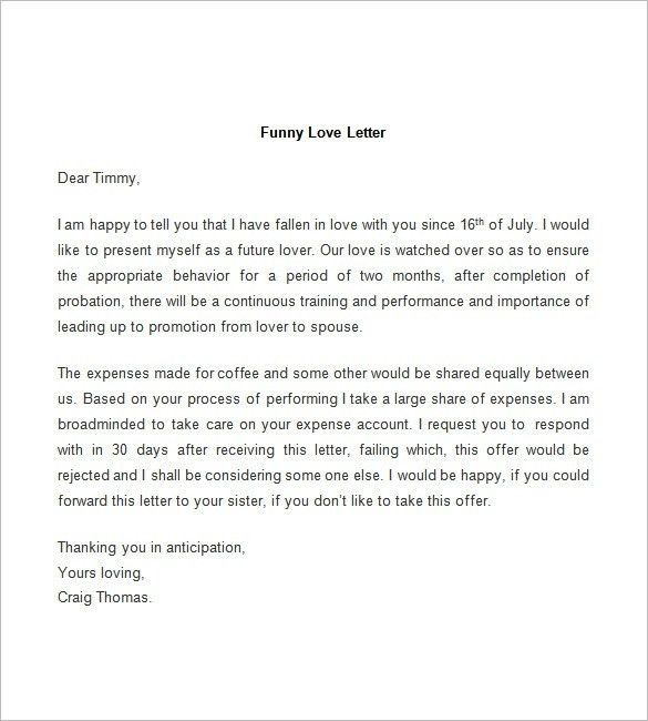Love Letter Templates Free | Samples.csat.co