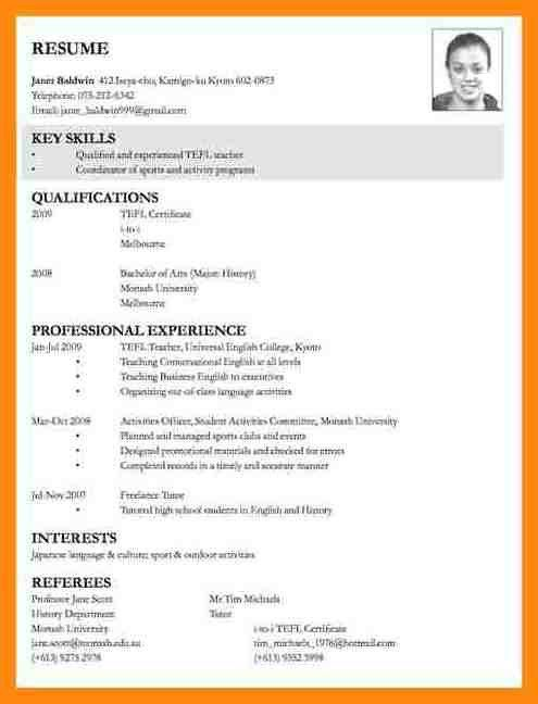 Example Resume For Job Application. Resume For College Application ...