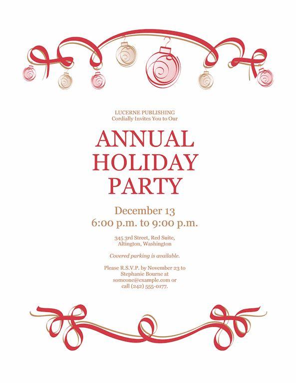 Party Invitation Templates Free Word - Themesflip.Com