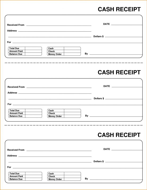 Receipt Blank Employee Attendance Record Template Ticket ...