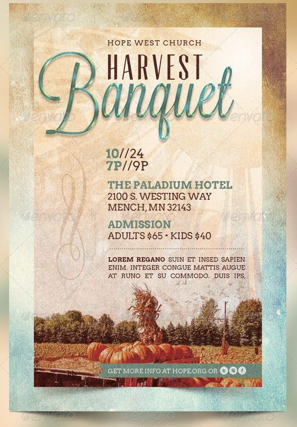 Harvest Banquet Church Flyer and CD Template | The Harvest B… | Flickr