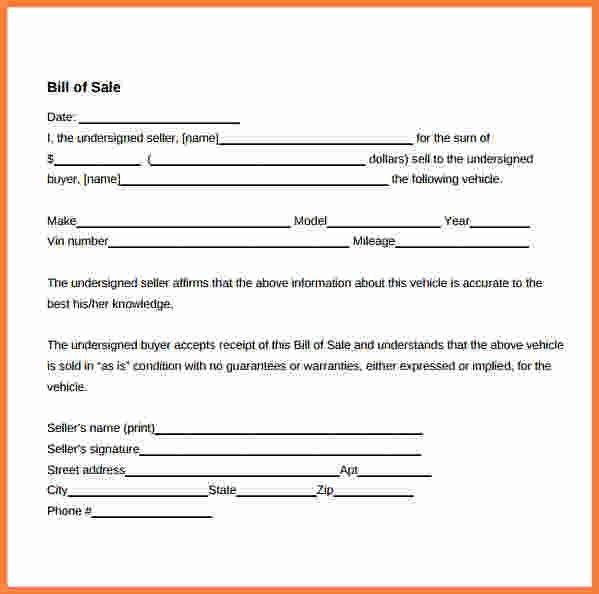 5+ bill of sale template doc | Stationery Bills