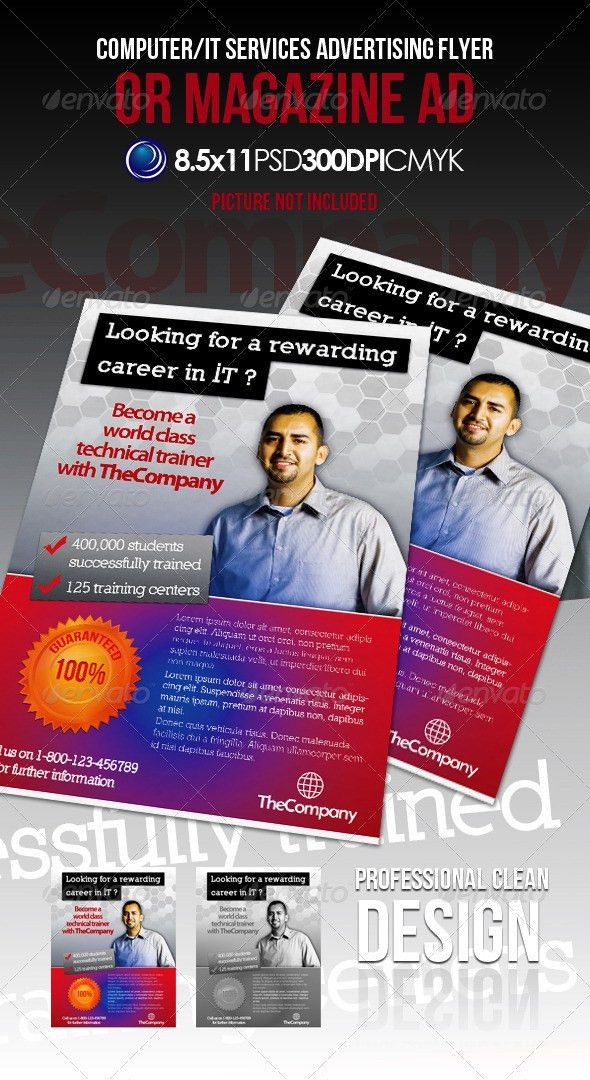 Computer IT Services Advertising Flyer Magazine Ad | Advertising ...