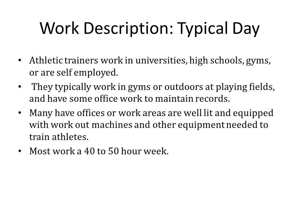 Athletic Trainer By Nathan Yi. - ppt download