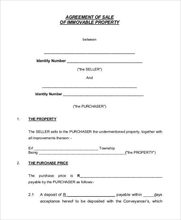 8+ Property Contract Templates - Sample, Examples | Free & Premium ...