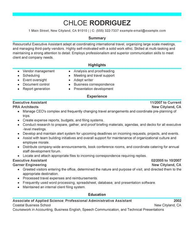 Download Executive Secretary Resume | haadyaooverbayresort.com