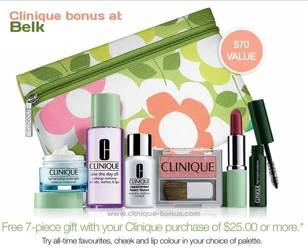 Belk: Clinique Bonus back in stock in October 2017