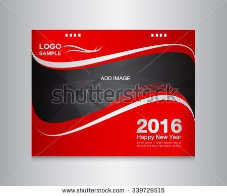 Red Cover Calendar Template Cover Vector Stock Vector 342235184 ...