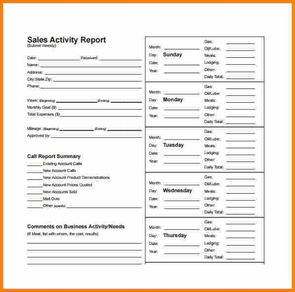 Employee Weekly Report Weekly Report Template 10 Free Word Excel – Sales Weekly Report Template