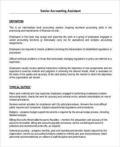 accountant assistant job description