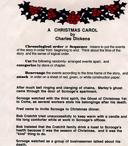 A Christmas Carol chronology
