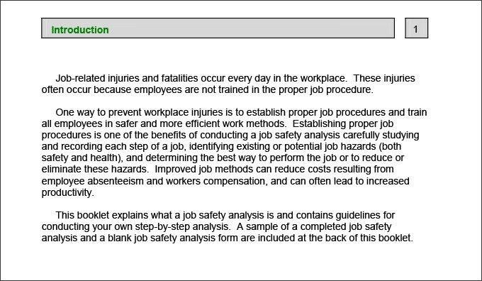 Job Safety Analysis Template - 6 Free Word, PDF Documents Downlaod ...