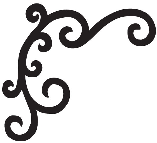 Swirls vinyl wall decals and wrought iron on pinterest