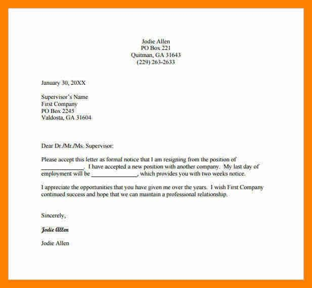 6+ letter resignation email | resumes great