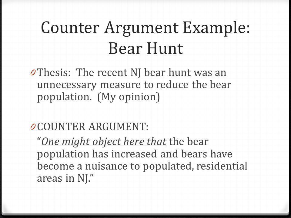 Counter argument thesis