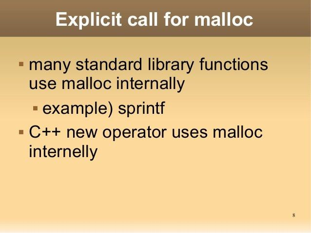 Tips of Malloc & Free