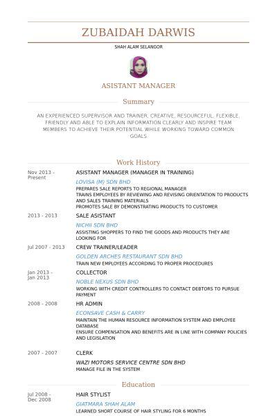 Manager In Training Resume samples - VisualCV resume samples database