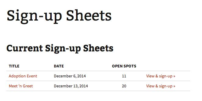 Sign-up Sheets Pro – WordPress Plugin - DLS Software Studios