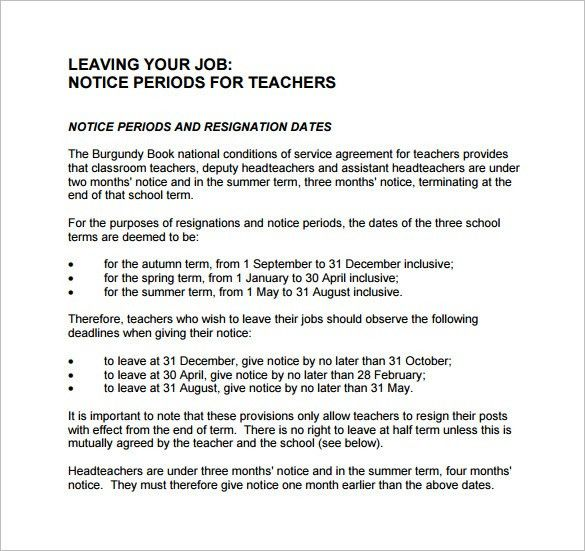 Notice Letter Templates – 23+ Free Word, Excel, PDF Format ...