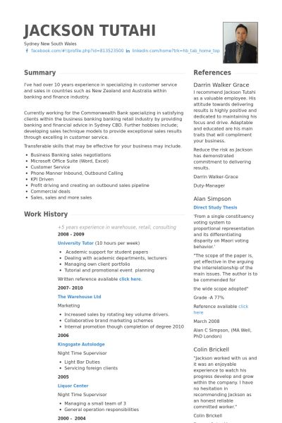 Customer Service Specialist Resume samples - VisualCV resume ...