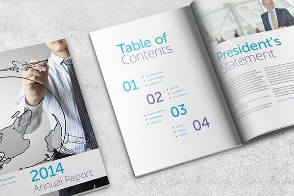 Annual Report Template - A4 Portrait on Behance