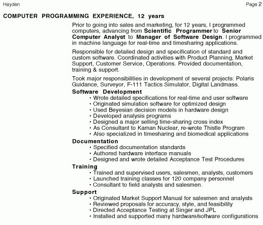 Personal Resume Page 2 - Management Consulting Freelance writer ...