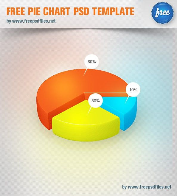 Free Pie Chart PSD Template - Free PSD Files